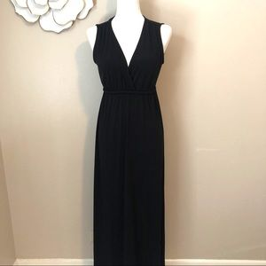 Philosophy black sleeveless maxi dress